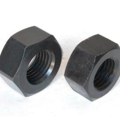 ASME standard hexmutter svartoxid
