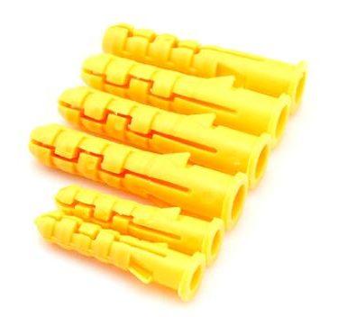 Plastväggförankring av nylonproppar av konisk typ