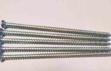 Betongskruv torx pozi 6 nibs vit zink hi-lo tråd