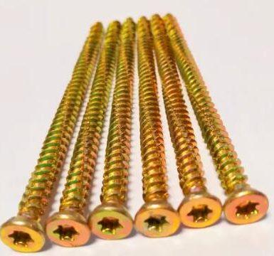 Betongskruv torx pozi 6 nibs gul zink hi-lo tråd